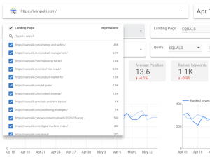 search console performance report