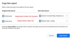 copy data studio report
