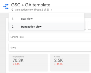 goal and transaction reports
