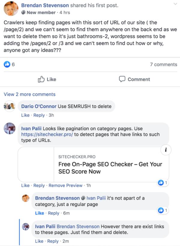 facebook organic promotion saas seo